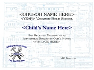 Bibleschoolresources free building up gods house vbs materials optional plastic construction hats can be handed out with the certificates these may be purchased online from the oriental trading company and personalized yadclub Images